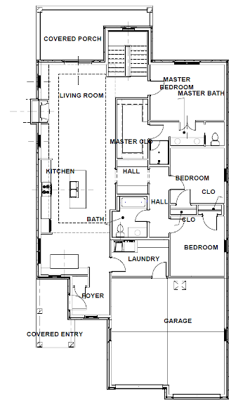 Elizabeth floorplan - Harper Woods Lexington KY
